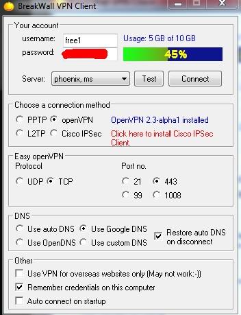 BreakWall VPN Client updated to support Cisco IPSec | bw